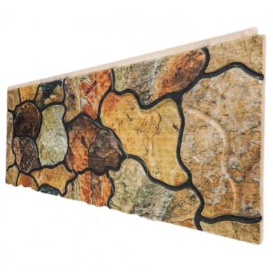 Декоративен панел тип естествен камък в топли цветове