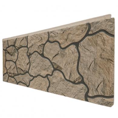 Декоративен панел с визия на естествен камък в светло бежово