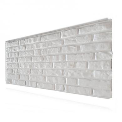 Декоративен панел малка тухла в бял цвят