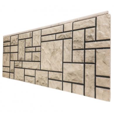 Декоративен панел с визия на ретро камък в бежово